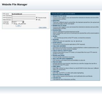 streamlineftp net at WI  Website File Manager