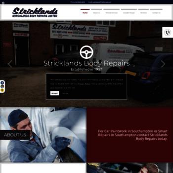 Stricklandsbodyshop.co.uk thumbnail