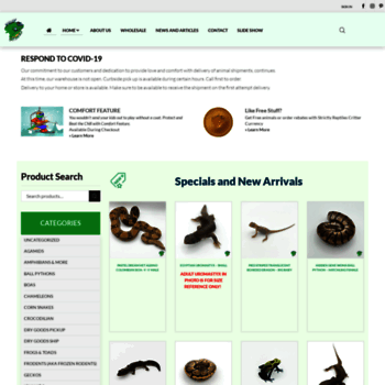 strictlyreptiles tv at WI  Online Reptile Store | Wholesale