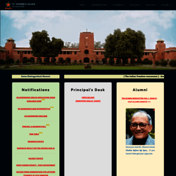 ststephens edu at WI  St  Stephen's College, Delhi