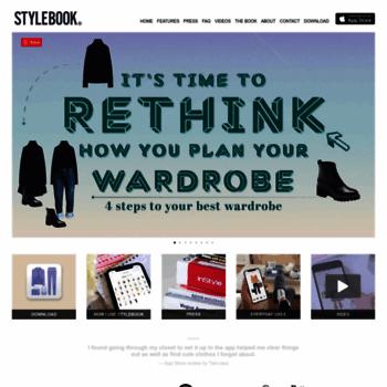 stylebookapp com at WI  Stylebook Closet App: a closet and