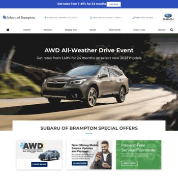 Subaruofbrampton.ca thumbnail