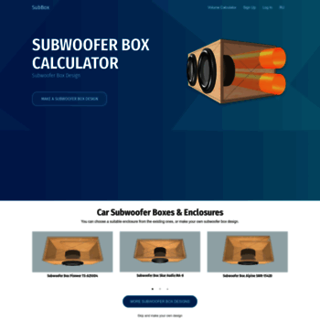 subbox pro at WI  Subwoofer Box Design Software and Speaker Box