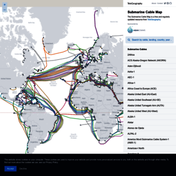 submarinecablemap.com at WI. Submarine Cable Map