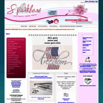 3d563557c suessparklers.com at WI. Sues Sparklers: Iron On Rhinestone ...