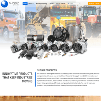 sunairusa com at WI  Sunair Products - Innovative Products