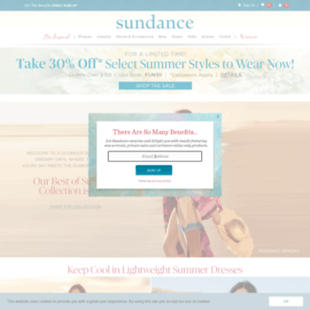 69a2bfd9a2 sundancecatalog.com at WI. Women's Clothing and Unique Jewelry ...