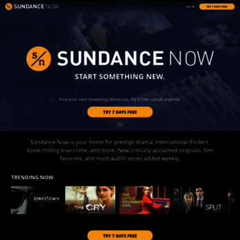sundancenow com at WI  SUNDANCE NOW | True Crime, Political