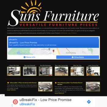 Sunsfurniture Com At Wi Suns Furniture Wholesale Furniture To The