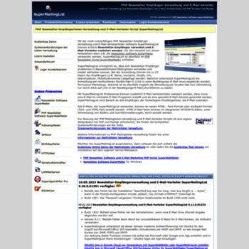 Supermailinglist.de thumbnail