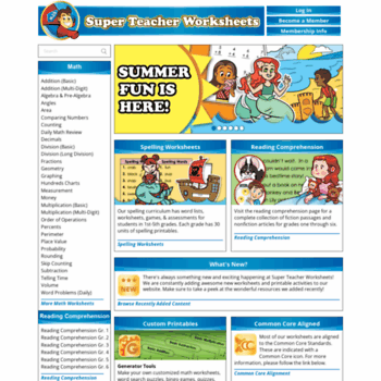Superteacherworksheets.com thumbnail