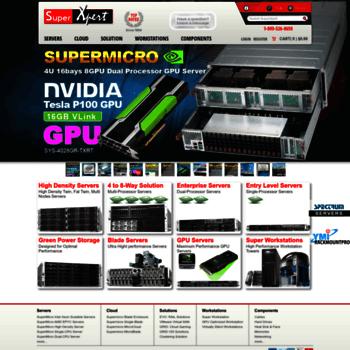 superxpert com at WI  Supermicro Servers, Data Storage & Solutions