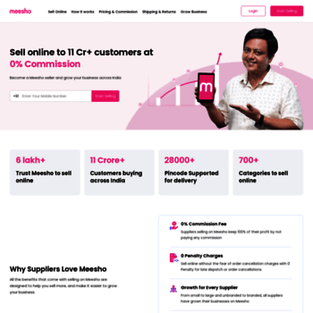 supplier meesho com at WI  Grow your sales with 1 crore+