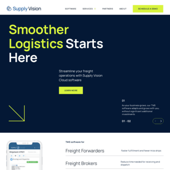 supply-vision com at WI  Cloud Based Logistics Solutions