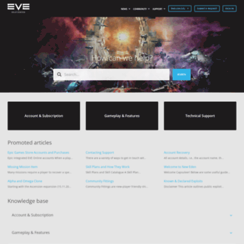 support eveonline com at WI  EVE Online