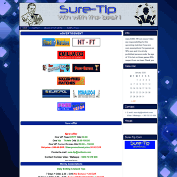 sure-tip com at WI  Sure-Tip-Free Soccer Predictions, Fixed