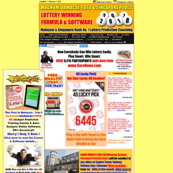 surekena com at WI  Malaysia & Singapore Lottery Result Prediction