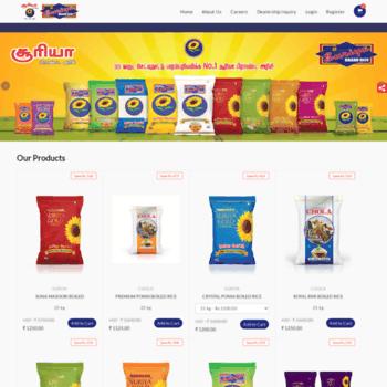 suriyabrandrice com at WI  Rice Manufacturers, Rice Exporters, Rice