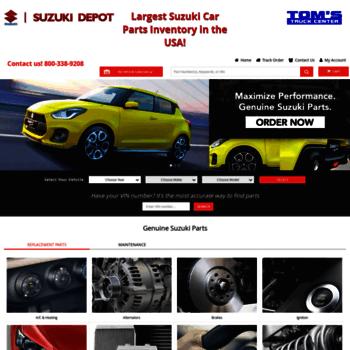 suzukicarparts com at WI  Suzuki Car Parts Catalog Online Store