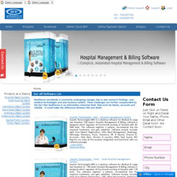 swastintechnologies com at WI  Hospital Management System | HMS