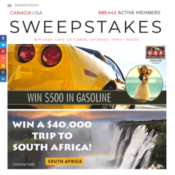 sweepstakes ca at WI  Win Free | Vacation Cash Prizes