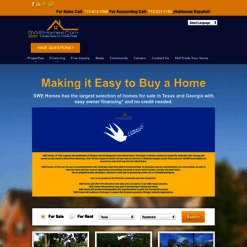 swehomes com at WI  Owner Financing Homes for Sale in Texas