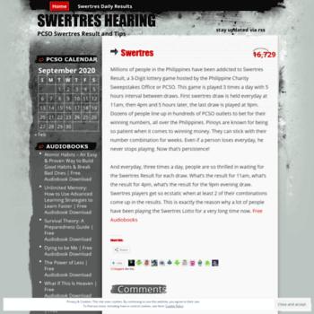 swertres wordpress com at WI  Swertres Hearing   PCSO Swertres