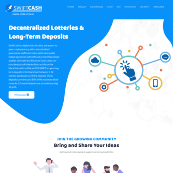 Swiftcash.org thumbnail