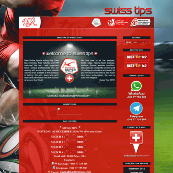 switzerlandtips com at WI  Swiss Tips: Best Online Soccer