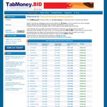 Tabmoney.bid thumbnail