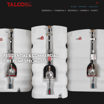 talcofire com at WI  Talco Fire Systems | Residential