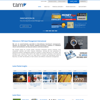 tamint com at WI  Home | TAM Asset Management International