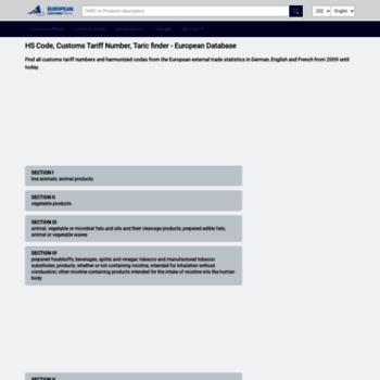 tariffnumber com at WI  HS Code, Customs Tariff Number
