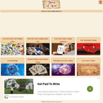 tarotoflove com at WI  Love Tarot Reading,Cartomancy,Fortune Teller