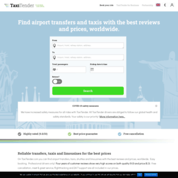 taxitender com at WI  Airport transfers and taxis with the