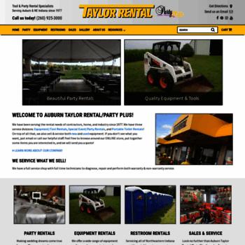 taylorrentalusa com at WI  Equipment Rental Auburn IN