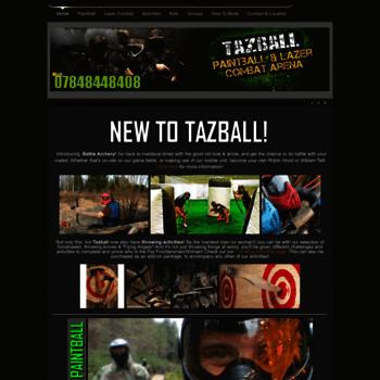 Tazballpaintball.co.uk thumbnail
