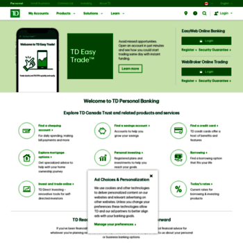 tdcanadatrust com at WI  TD Canada Trust - Personal, Small Business