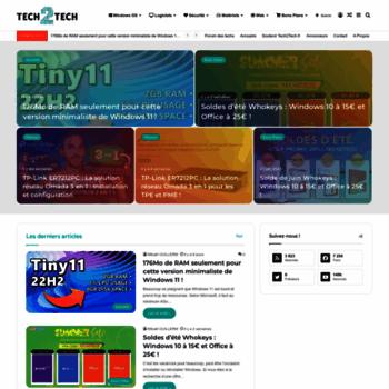 Tech2tech.fr thumbnail