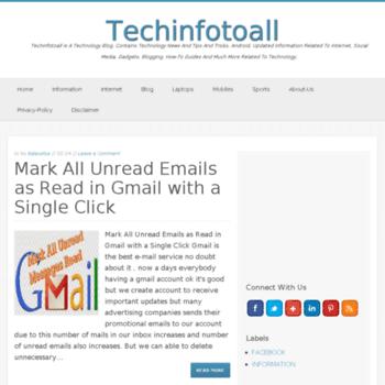 Techinfotoall.net thumbnail