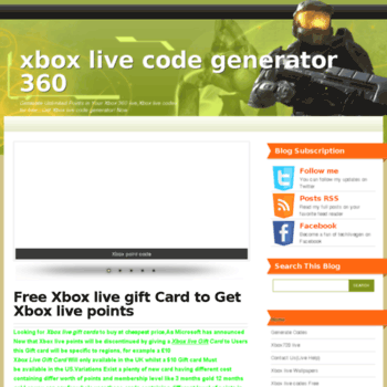 techlivegen net at WI  Xbox live code generator 360
