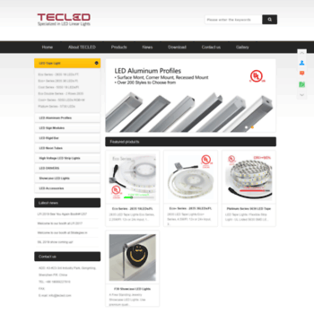 Tecled Specialized In Led Linear Lights