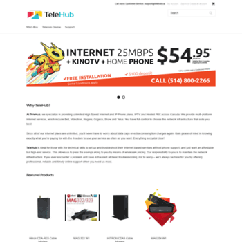 telehub ca at WI  Unlimited High Speed Internet and IP Phone