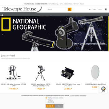 telescopehouse com at WI  Telescope House Home Page - the UK