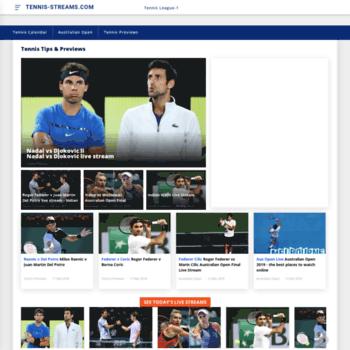 Tennis-streams.com thumbnail