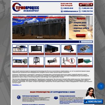 Веб сайт termoprocess.ru