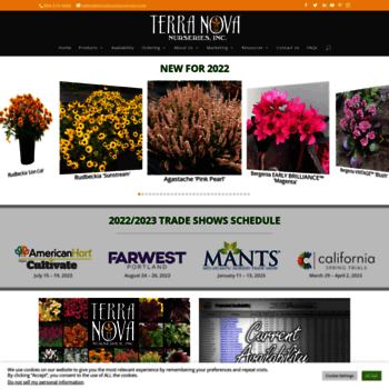 terranovanurseries com at WI  TERRA NOVA® Nurseries, Inc