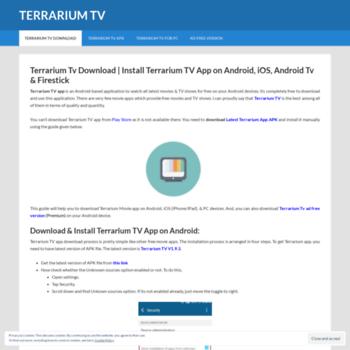 terrariumtvofficial com at WI  Terrarium Tv | Download Terrarium Tv