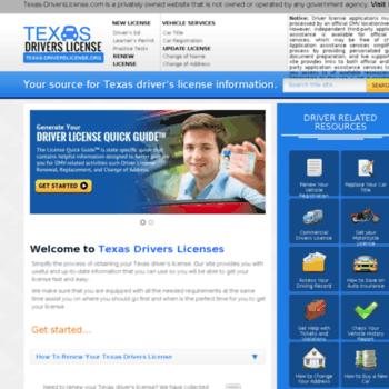 texas-driverslicense org at Website Informer  Visit Texas
