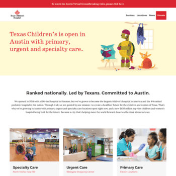 Texaschildrensaustin.org thumbnail